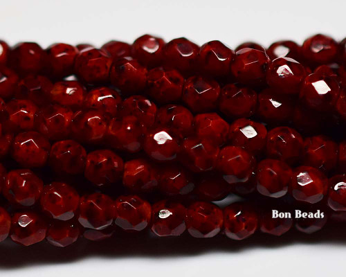 4mm Mineral Mosaic Garnet Round Fire Polished (600 Pieces)