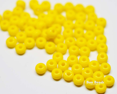 6/0 Yellow Round Seed Beads (100 Grams)