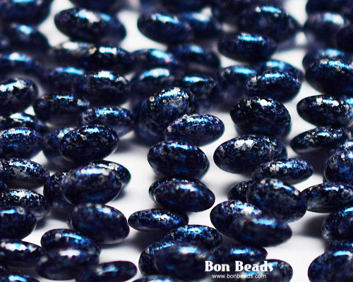 6mm Granite Galaxy Lapis Lentils (300 Pieces)