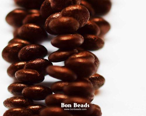 6mm Antique Bronze Etched Lentils (300 Pieces)