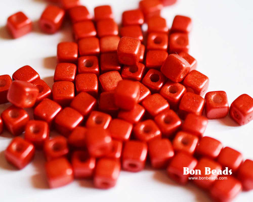 6/0 Lava Red Cubix® (50 Grams)