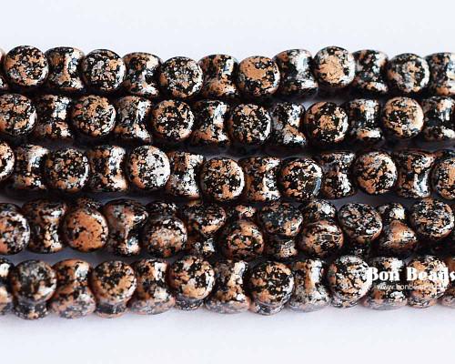 4x6mm Granite Galaxy Gold Pellets (300 Pieces)