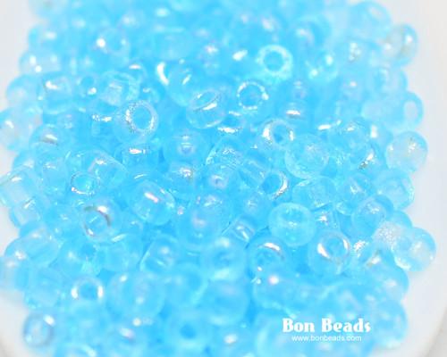 8/0 Aqua Etched Round (50 Grams)