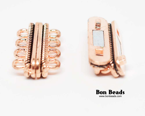 30x17x7mm 8 Holes Copper Magnetic Bar Clasp (Each)