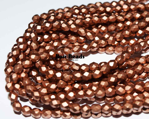 4mm Silky Dark Gold Round Fire Polished (600 Pieces)