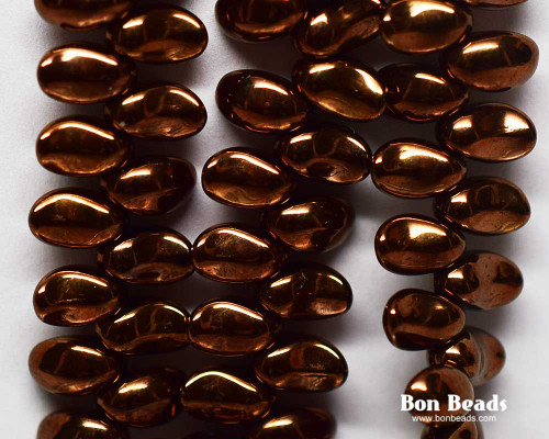 4x6mm Dark Bronze  Curved Tooth / Lily Petals (300 Pieces)