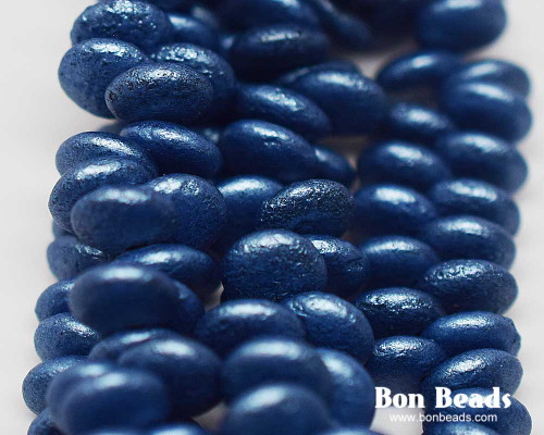 6mm Pastel Lapis Etched Lentils (300 Pieces)