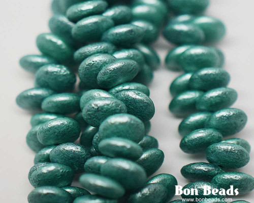 6mm Pastel Green Etched Lentils (300 Pieces)