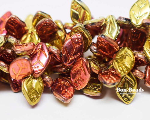 12x7mm California Gold Leaves (300 Pieces)