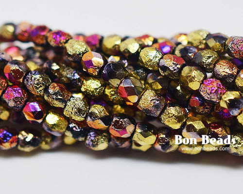 3mm California Purple Etched Fire Polished (600 Pieces)