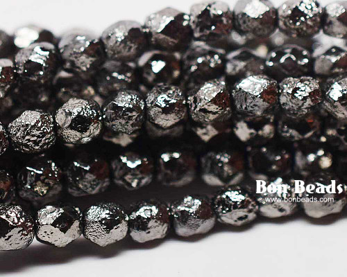 6mm Full Chrome Etched Round Fire Polished (300 Pieces)