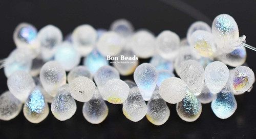 4x6mm Crystal AB Etched Drops (300 Pieces)