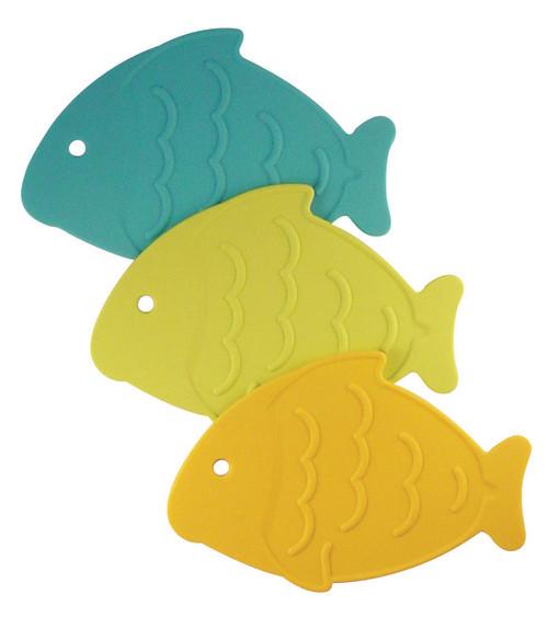 Caribbean Splash Fish-Shaped Trivets (set of 3)