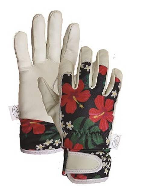 Hibiscus Leather Gloves