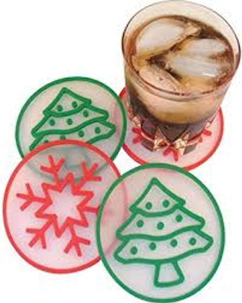 Holiday Collection Silicone Coasters (set of 4)
