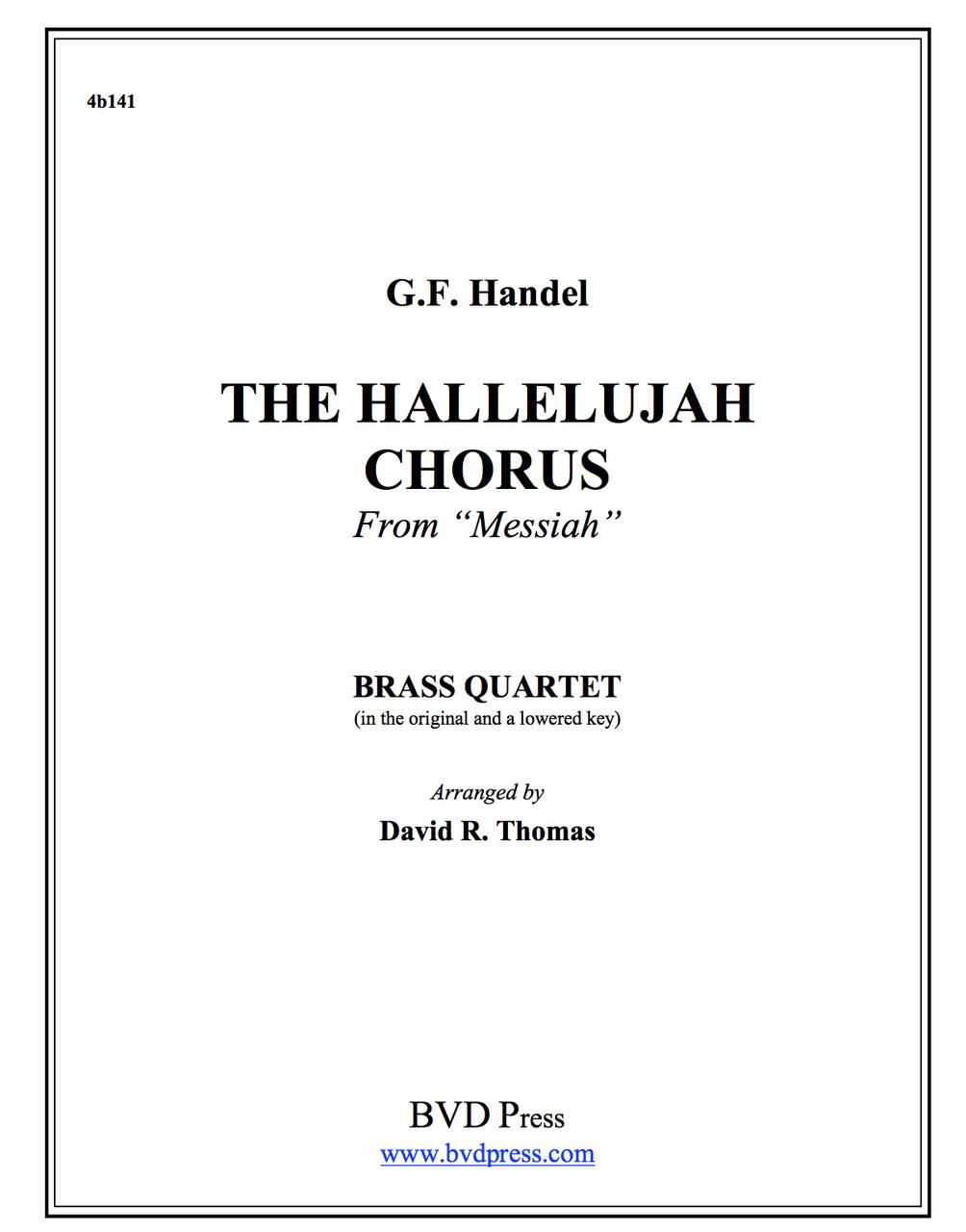 for Horn Quartet Hallelujah Chorus Music NEW arr