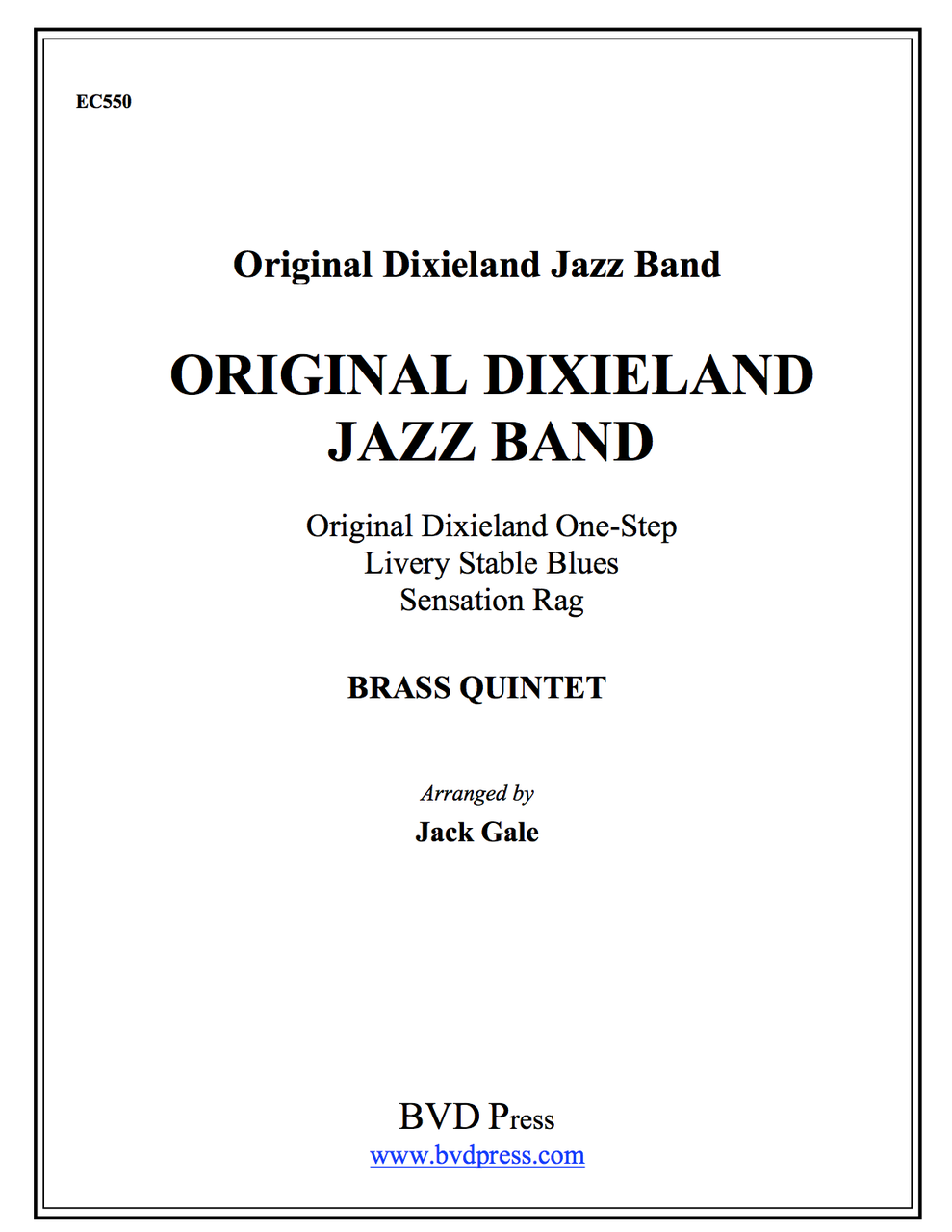 The Original Dixie Jazz Band Brass Quintet (Various/Gale) PDF Download