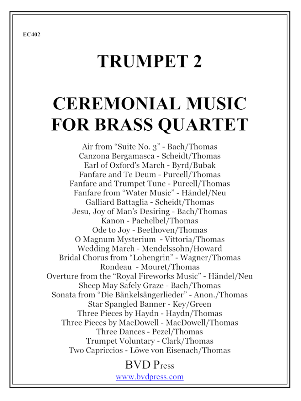 Ceremonial Music for Brass Quartet Trumpet 2 PDF Download