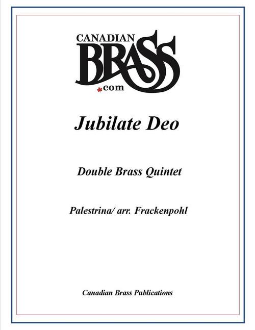 Jubilate Deo Double Quintet (Palestrina/ arr. Frackenpohl) archive copy