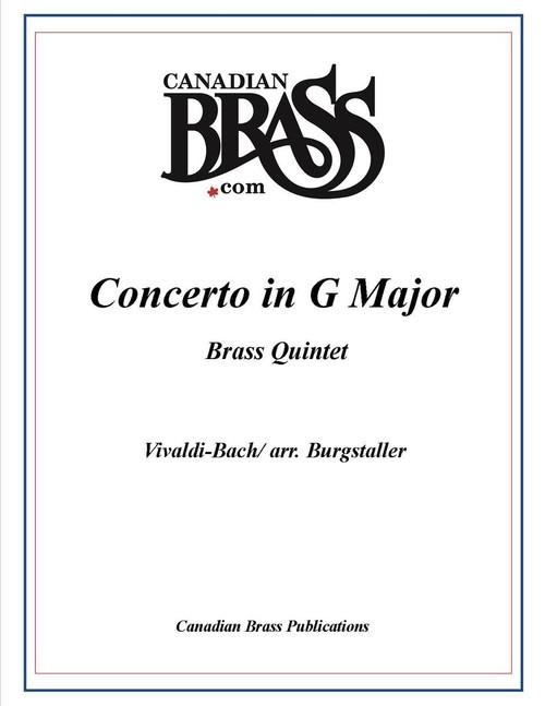 Concerto in G Major for Brass Quintet (Vivaldi-Bach/arr. Burgstaller)