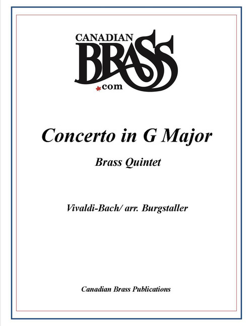Concerto in G Major for Brass Quintet (Vivaldi-Bach/arr. Burgstaller)