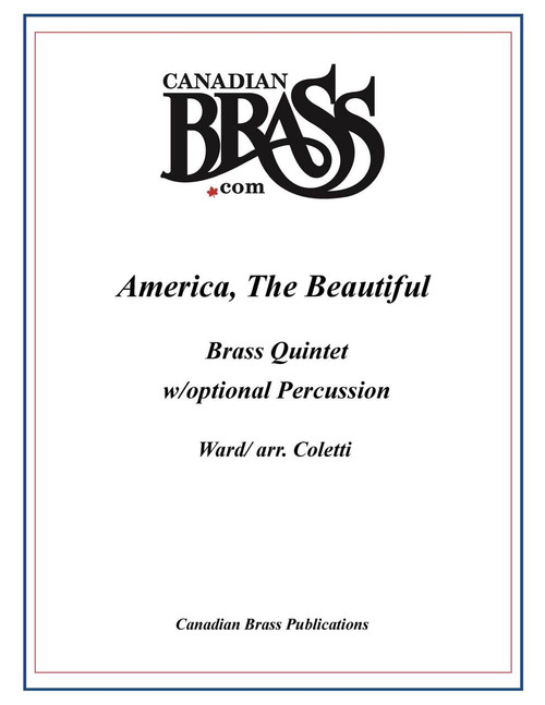 America the Beautiful Brass Quintet with optional percussion (Ward/arr.Coletti)