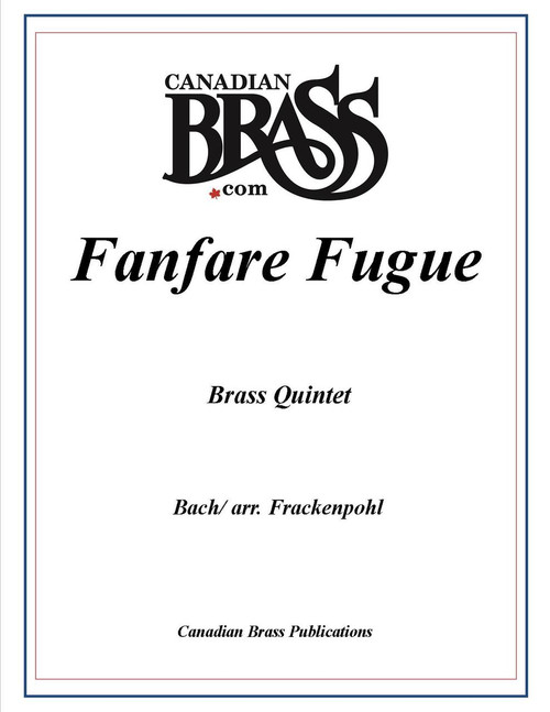 Fanfare Fugue Brass Quintet (Bach/Frackenpohl) PDF Download