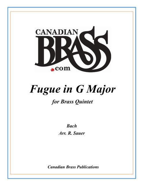 "Fugue in G Major ""Gigue Fugue"" (Bach/arr. Sauer) brass Quintet archive copy PDF Download"