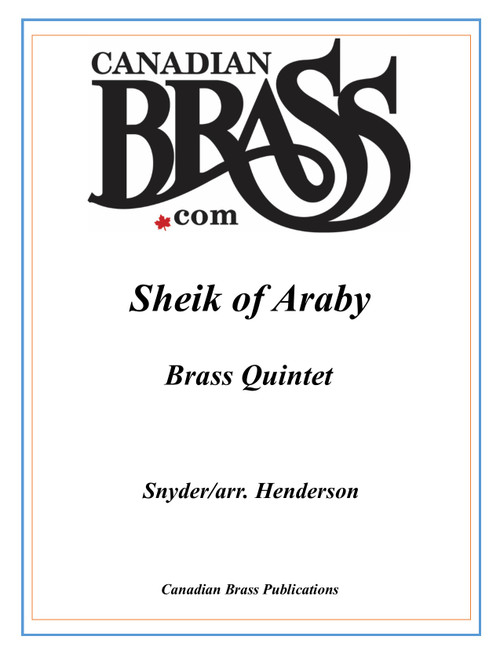 Sheik of Araby Brass Quintet (Snyder/arr. Henderson) archive copy PDF download