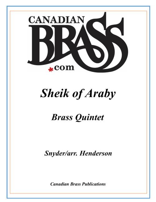 Sheik of Araby Brass Quintet (Snyder/arr. Henderson) archive copy PDF download