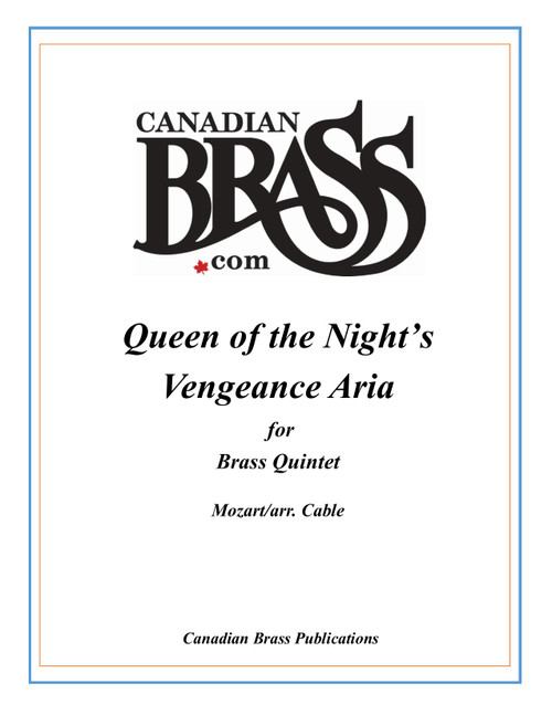 Queen of the Night's Vengeance Aria for Brass Quintet (Mozart/arr. Cable) archive copy PDF download