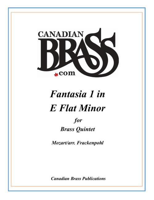 Fantasia 1 in E Flat minor K.594 Brass Quintet (Mozart/ arr. Frackenpohl) archive copy PDF download