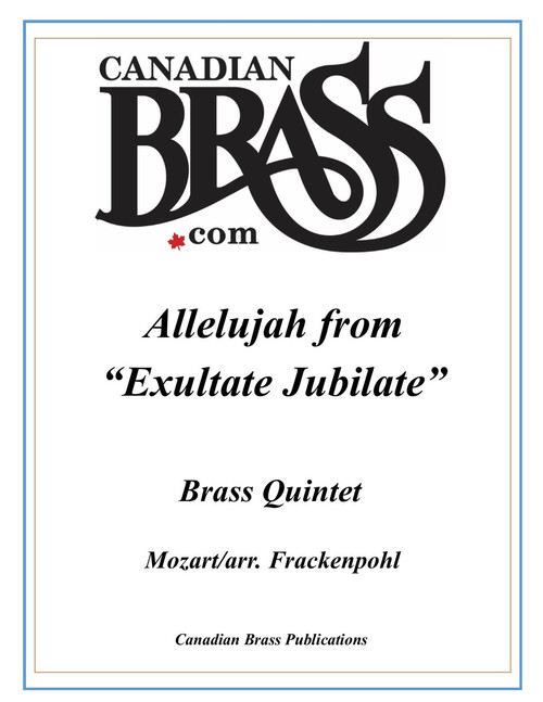 "Alleluia from ""Exultate Jubilate"" Brass Quintet (Mozart/arr. Frackenpohl) archive copy PDF download"