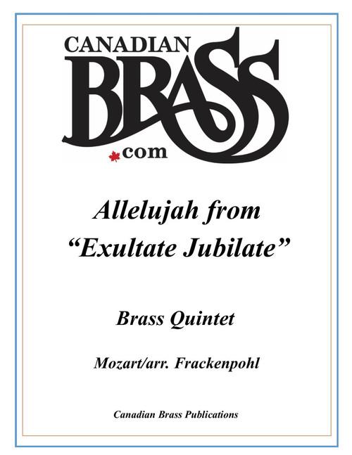 """Allelujah from """"Exultate Jubilate"""" Brass Quintet (Mozart/arr. Frackenpohl) archive copy PDF download"""