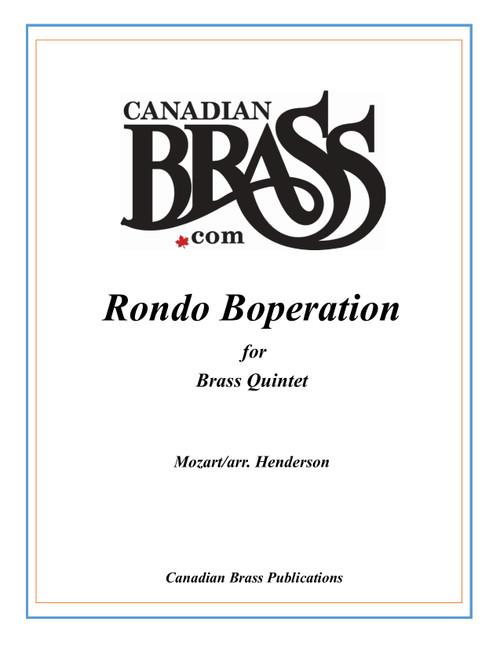 Rondo Boperation Brass Quintet (Mozart/arr. Henderson) archive copy PDF download