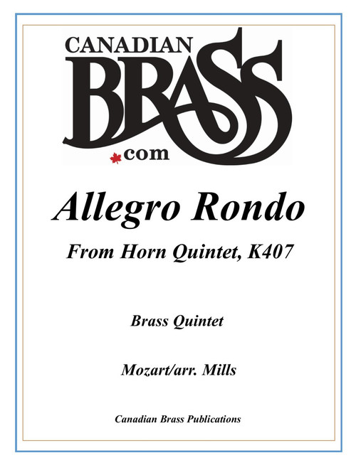 Allegro Rondo from Horn Quintet K407 Brass Quintet (Mozart/arr. Mills) PDF download