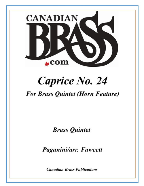Caprice No. 24 Brass Quintet featuring Horn (Paganini/ arr. Fawcett) PDF Download