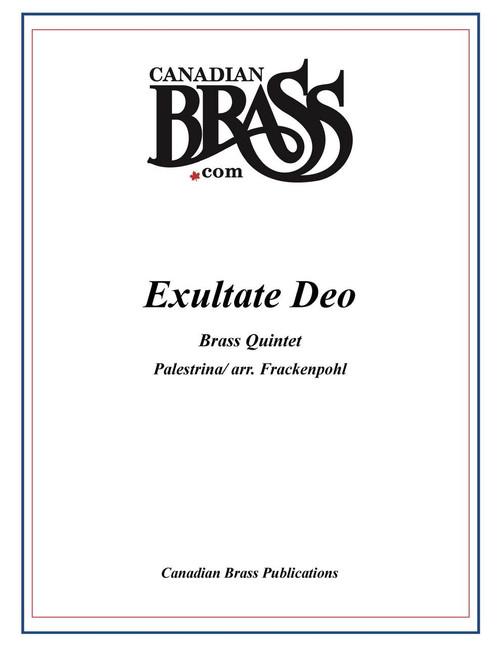 Exultate Deo Brass Quintet (Palestrina/ arr. Frackenpohl) archive copy PDF