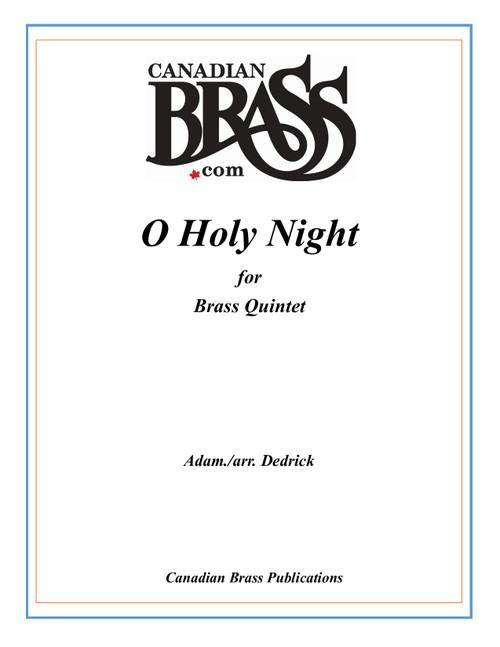 O Holy Night Brass Quintet (Adam /arr. Dedrick) PDF Download