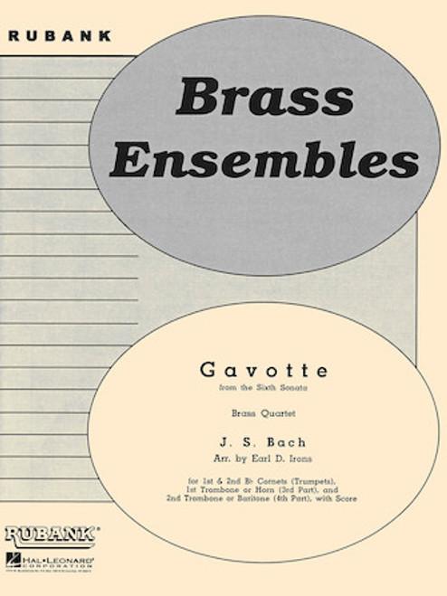 Gavotte (from the Sixth Sonata) Brass Quartet (Bach/arr. Irons)