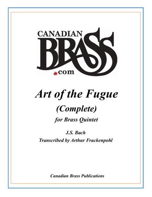ART OF THE FUGUE COMPLETE TRANSCRIBED FOR BRASS QUINTET (Bach/arr. Frackenpohl)
