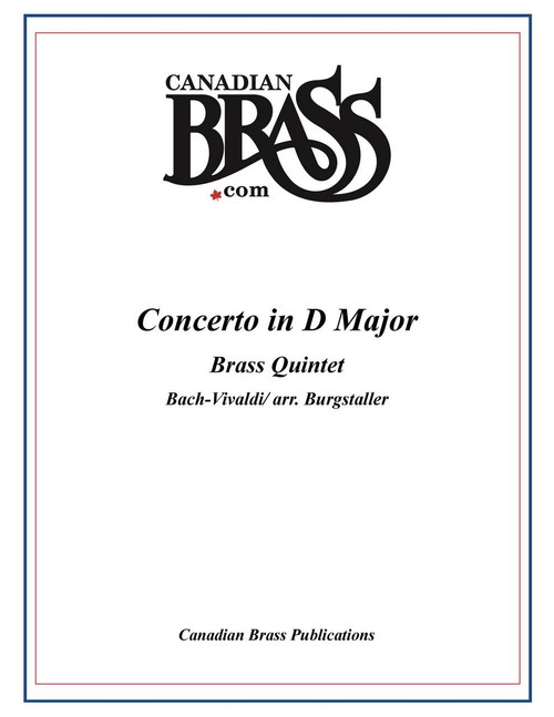 Concerto in D Major (BWV 972) for Brass Quintet Bach/Vivaldi (arr. Burgstaller) archive copy
