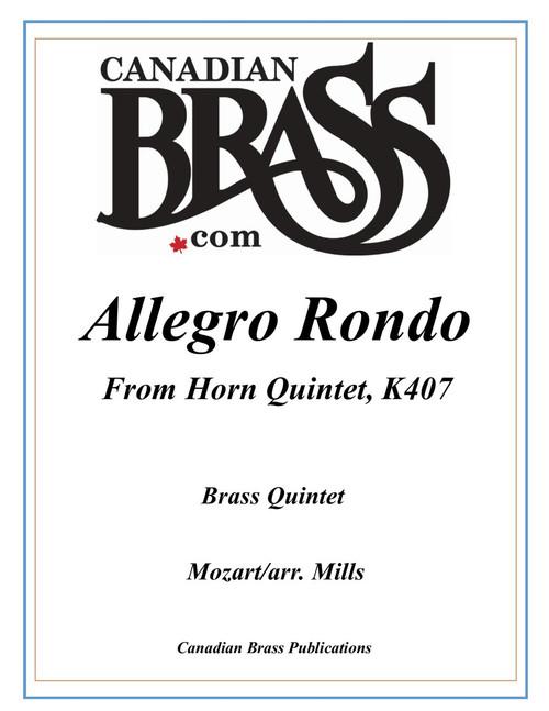 Allegro Rondo from Horn Quintet K407 Brass Quintet (Mozart/arr. Mills)