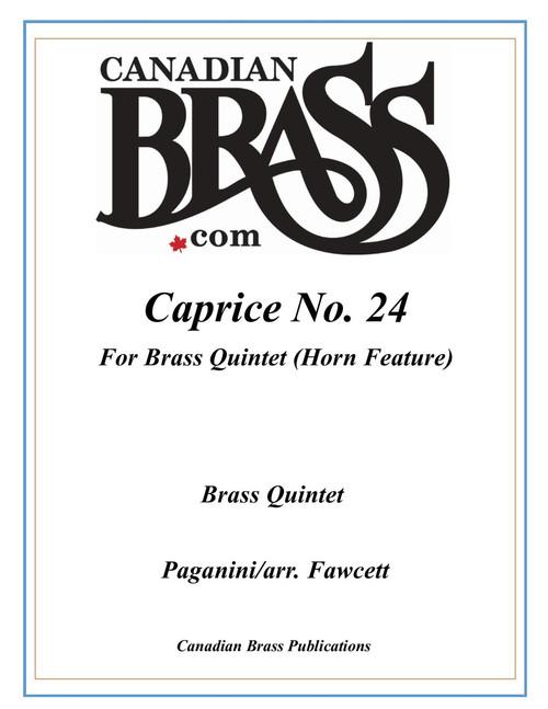 Caprice No. 24 Brass Quintet featuring Horn (Paganini/ arr. Fawcett)