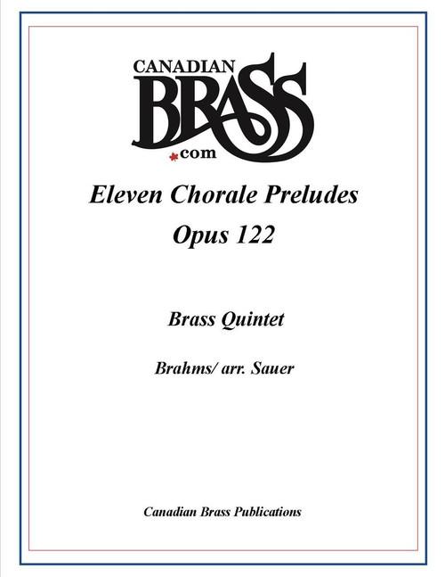 Eleven Chorale Preludes Brass Quintet (Brahms/ arr. Sauer)