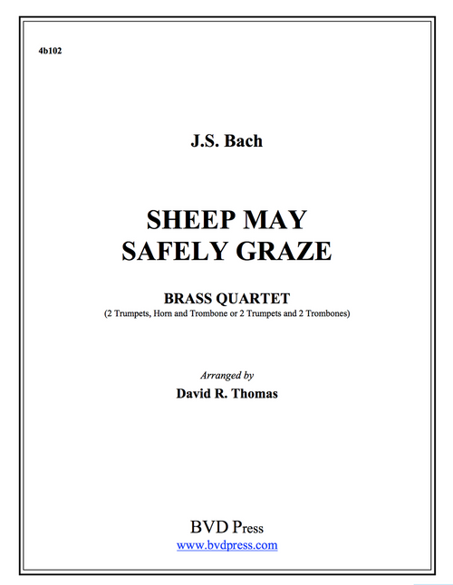 Sheep May Safely Graze Brass Quartet (JS Bach/Thomas)