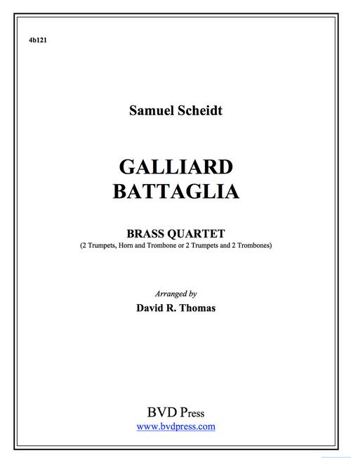 Galliard Battaglia Brass Quartet (Scheidt/Thomas)