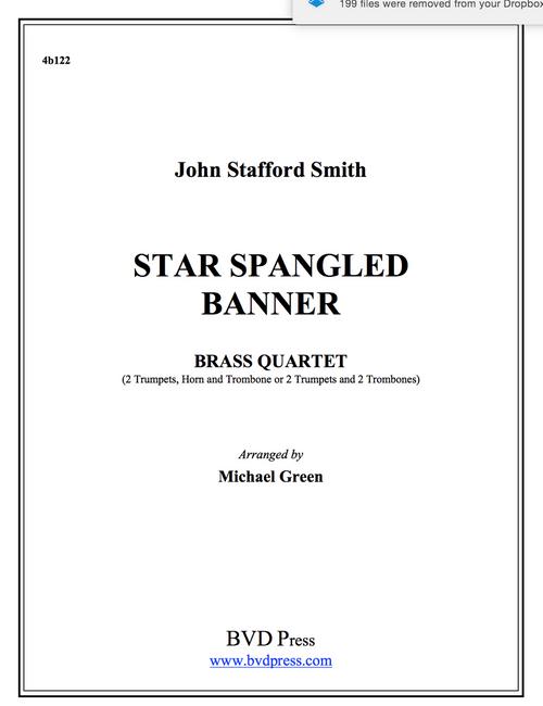 Star Spangled Banner Brass Quartet (Smith/Green)