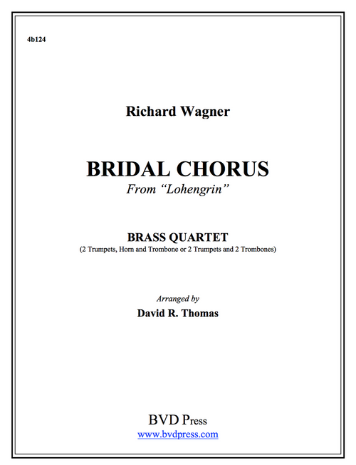 Bridal Chorus Brass Quartet (Wagner/Thomas)