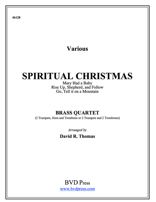 A Spiritual Christmas Brass Quartet (Various/Thomas)